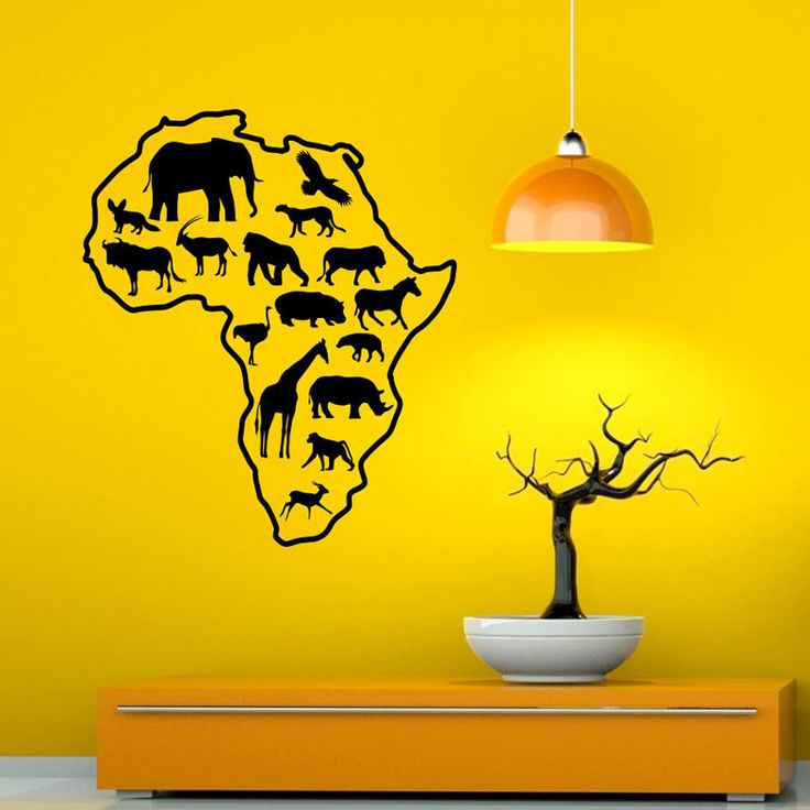 DCTOP Map Wall Stickers African Safari All Kinds Of Animals Removable Vinyl Wall Decal Sticker For Childrens Bedroom-in Wall Stickers from Home & Garden on Aliexpress.com   Alibaba Group