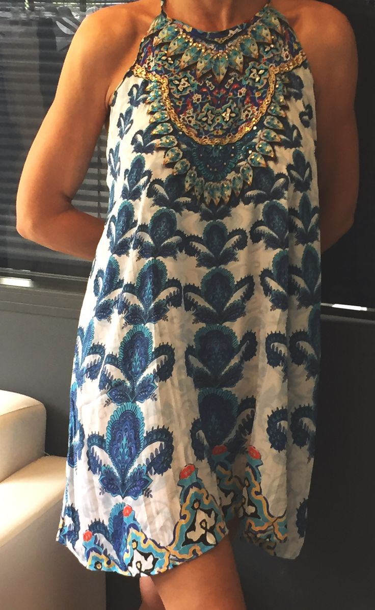 #Dress off #shoulders with #embroidery and #semi #precious #stones Discover more in our Eshop #summerdress