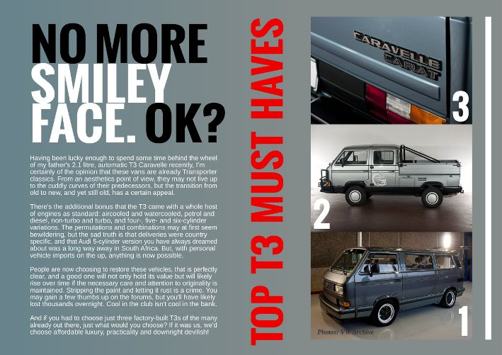 """The T3, also known as the T25 or wedge, isn't the cuddliest of campers but it's following is growing. Here we pick our Top 3 T3s from across the model range: the VW / Porsche Project """"B 32"""" – an ultra rare Transporter with the heart of a Porsche 911; the Double-Cab Tristar – ultimate practicality coupled with Caravelle comfort and the Caravelle Carat – 2.1 L engine plus it's luxuriously equipped. www.kombilifemagazine.com"""