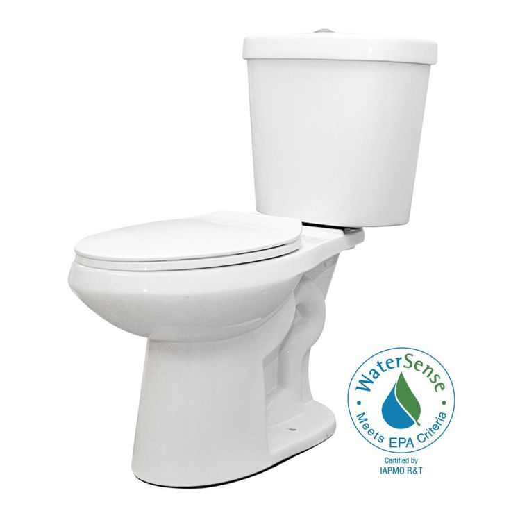 Glacier Bay 2-piece 1.1 GPF/1.6 GPF Dual Flush Round Toilet in White-N2428R-DF - The Home Depot