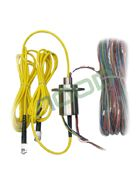 Most AOOD fiber optic hybrid slip rings are used in ROVs (Remotely Operated Vehicles), they are required to transfer high voltage, signals, video and fiber optic signals to/ from ROVs, voltage is usually around 3000 volts at maybe 20 amps per phase for the power, fiber optics tends to be all single mode, could be one, two or more channels.