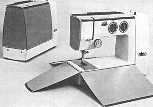 Chart of the Lotus Model sewing machines by Elna.