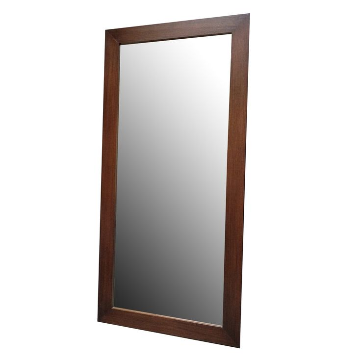 Buy Wood Framed Floor Mirror by Modern Resale - Quick Ship designer Accessories from Dering Hall's collection of Mid-Century / Modern Mirrors.
