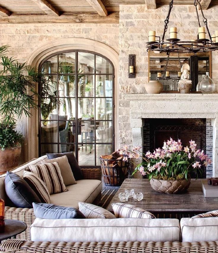 83 french country family room country style family for French country fireplace ideas