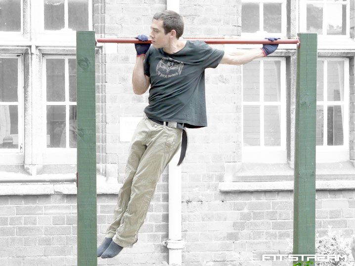 How to make an outdoor pull-up bar: Fitstream: DIY fitness equipment