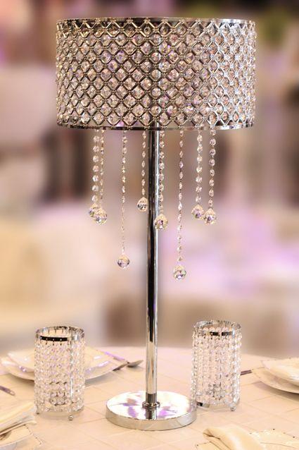 Lampshades centerpieces non floral centerpiece