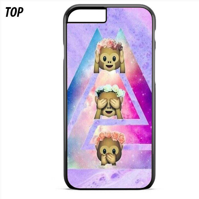 Cute Monkey Emoji Triangle For Iphone 6 Plus | 6S Plus Case