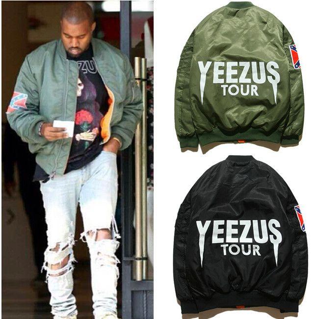 Cheap Bape MA1 chaqueta de bombardero del vuelo KANYE WEST YEEZUS tour chaquetas edición límite yeezy joven mens hip hop streetwear abrigos de invierno cálido, Compro Calidad Chaquetas directamente de los surtidores de China: