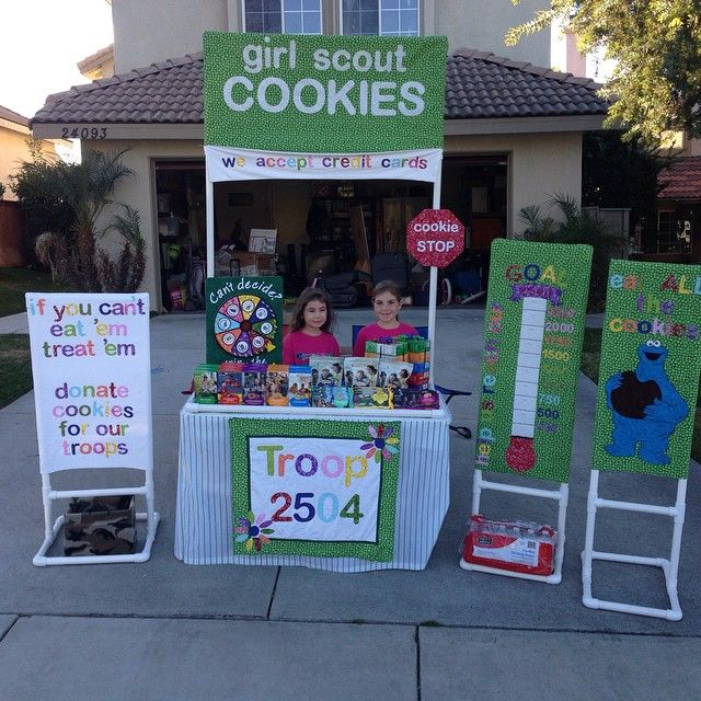 Our 2015 cookie booth, we won the bling your booth contest for our council :D