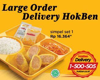 Harga Menu Large Delivery Order HokBen Terbaru 2015
