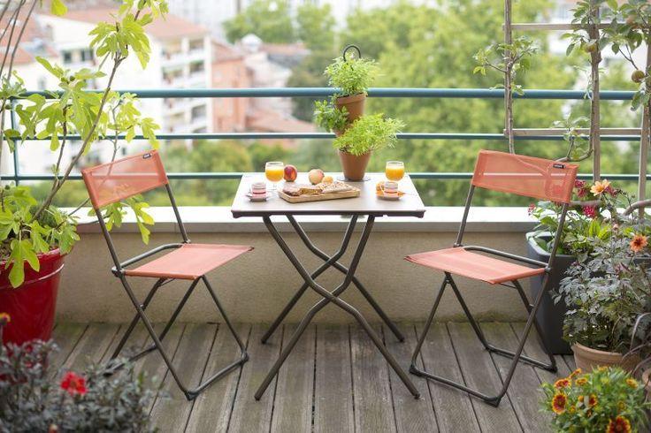 Chaise Anytime LAFUMA réf 222710 - Table Anytime LAFUMA réf 259127