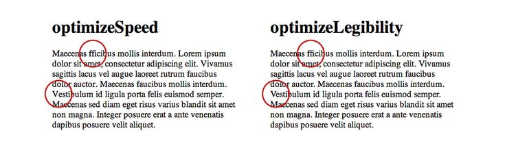 How to optimize for legibility using text-rendering