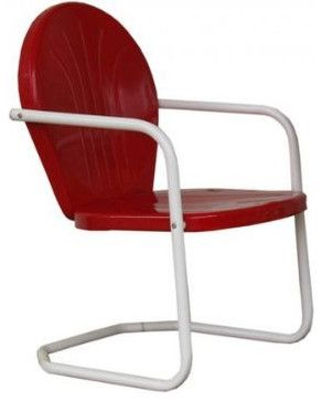 Vintage Metal Chairs Outdoor | Retro Metal Lawn Chair   Traditional    Outdoor Chairs