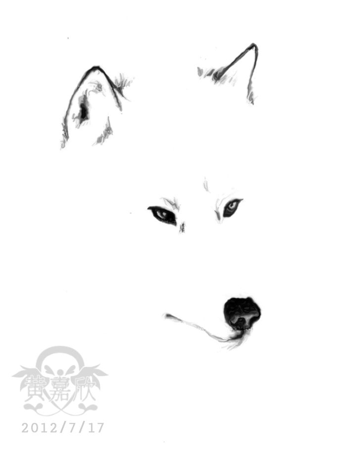 Simple realistic wolf tattoo design ...do fox instead and watercolor