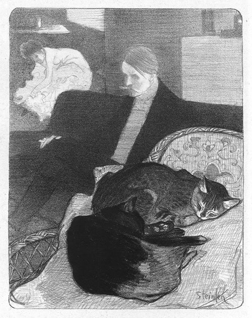 Chansons de femmes, 1897  Alexandre Theophile Steinlen, who put the cats in the foreground
