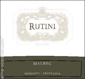 Rutini Rutini Malbec, La Consulta, Argentina