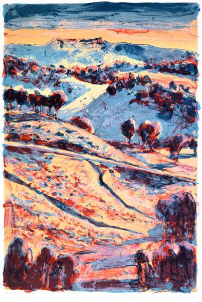Lucy Culliton - Landscape lithograph