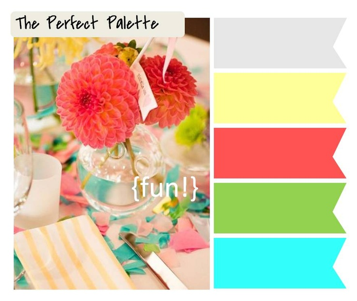 great summer palette: Spring Color, Color Palettes, Color Inspiration, Color Schemes, Color Combos, Bright Color, Summer Color, Perfect Palette, Colour Palette