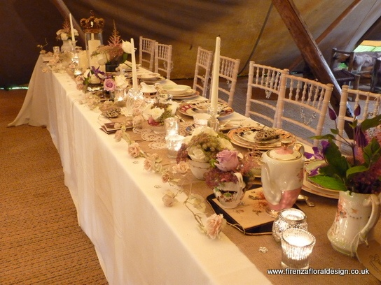 vintage crockery on top table
