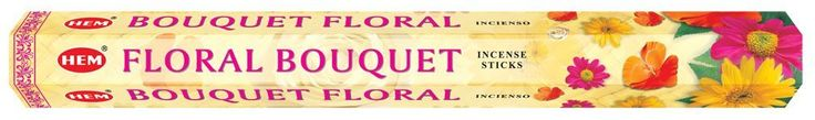 Floral Bouquet - Box of Six 20 Stick Tubes, 120 Sticks Total - HEM Incense *** Instant Savings available here : Home Fragrance