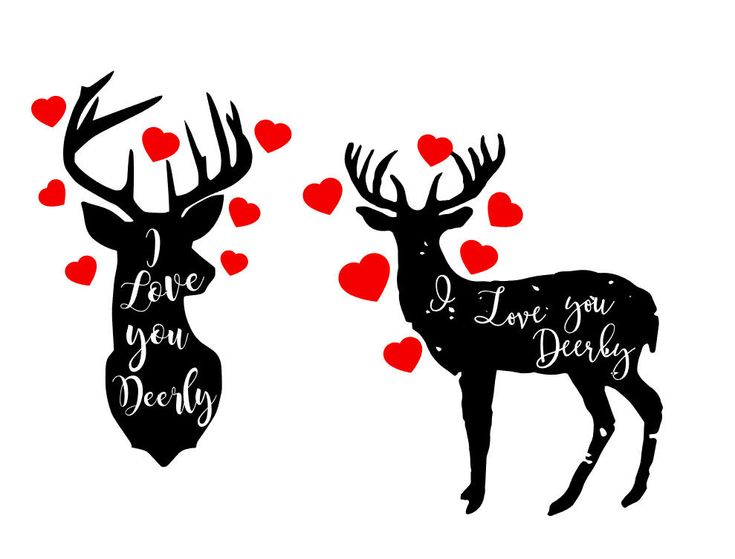 Download I Love you Deerly SVG heart | Painted rocks, Etsy shop, My ...
