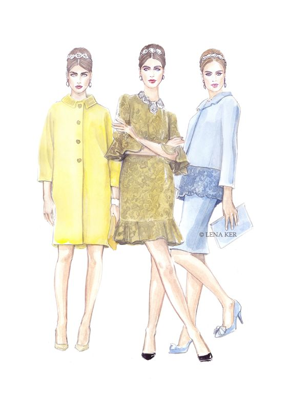 artwork by Lena Ker: inspiration - Dolce & Gabbana SS 2014