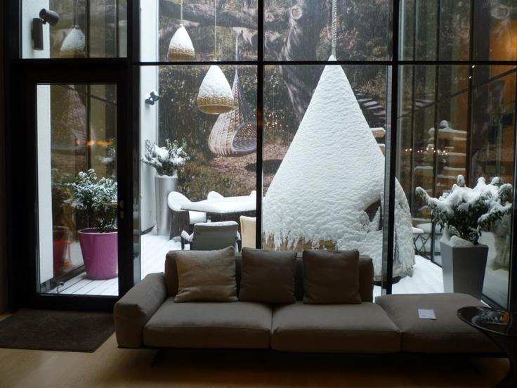 Unser Innenhof im Winter