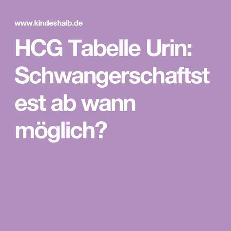 HCG Tabelle Urin: Schwangerschaftstest ab wann möglich?