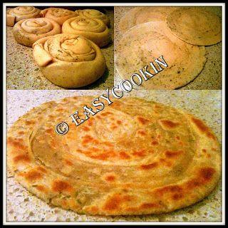 Lacha Paratha (Whole Wheat Layered Indian Bread)