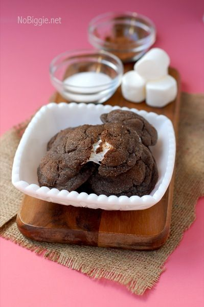 chocolate marshmallow cookies...I'm such a sucker for anything with marshmallow...