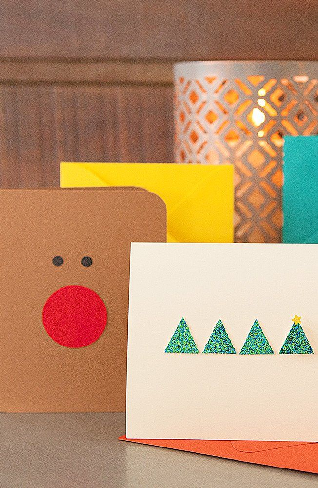 DIYers: This rudolph card from @ sturquoiseblog is as easy to make as it is funny and adorable. Grab cardstock, two of our punches and watch your family and friends' faces light up as bright as rudolph's' nose with this cute design.  #fiskars #holidaydiy #holidaycards