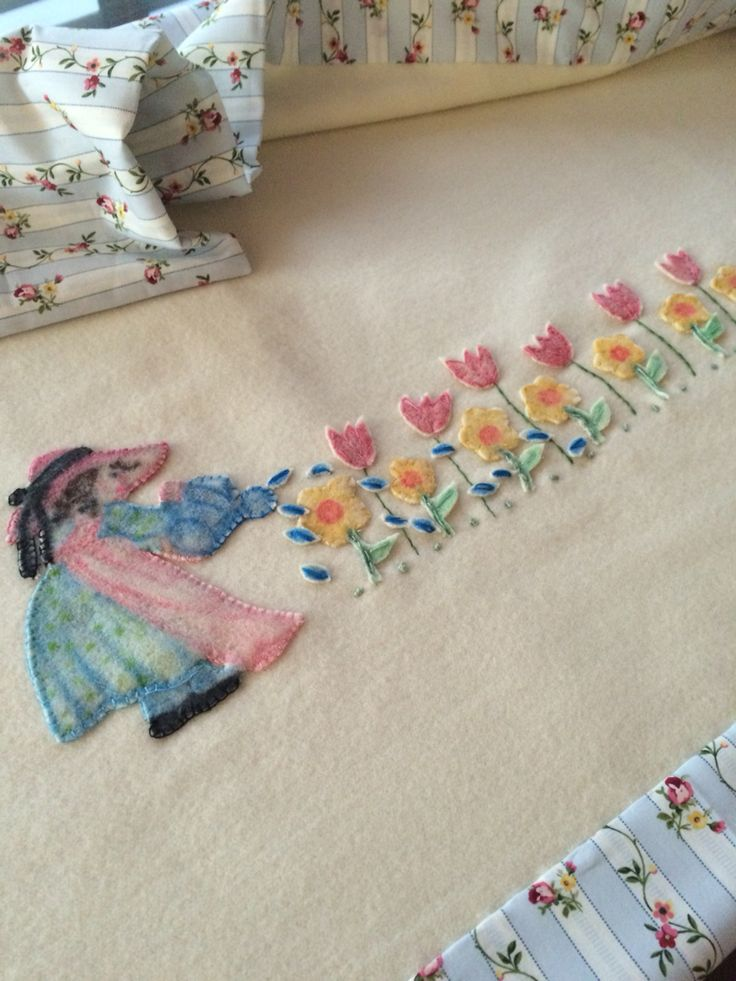 Mary Mary Quite Contrary Woollen Blanket for Ebony. By Alice.