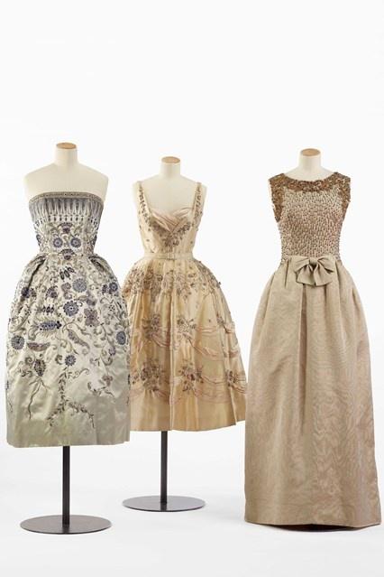 Christian Dior 1952, Balmain 1955, Balenciaga 1960