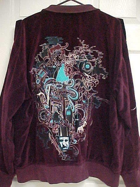 St GILES of the SEVEN DIALS Maroon Pistol Embroidered Jacket 2XL Artful Dodger #ArtfulDodger #BasicJacket