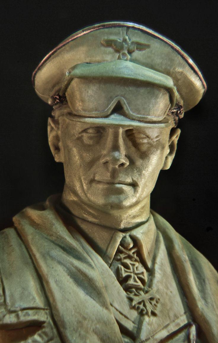 the german Field Marshal Erwin Rommel - 120 mm