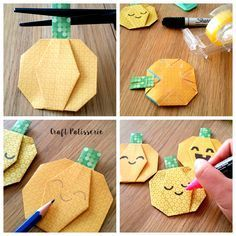 easy pumpkins origami tutorial