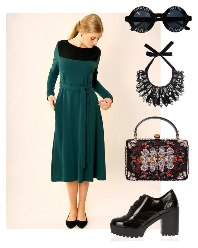 Dark Green  dress - http://www.tamarlandau.com/products/dark-green-midi-dress