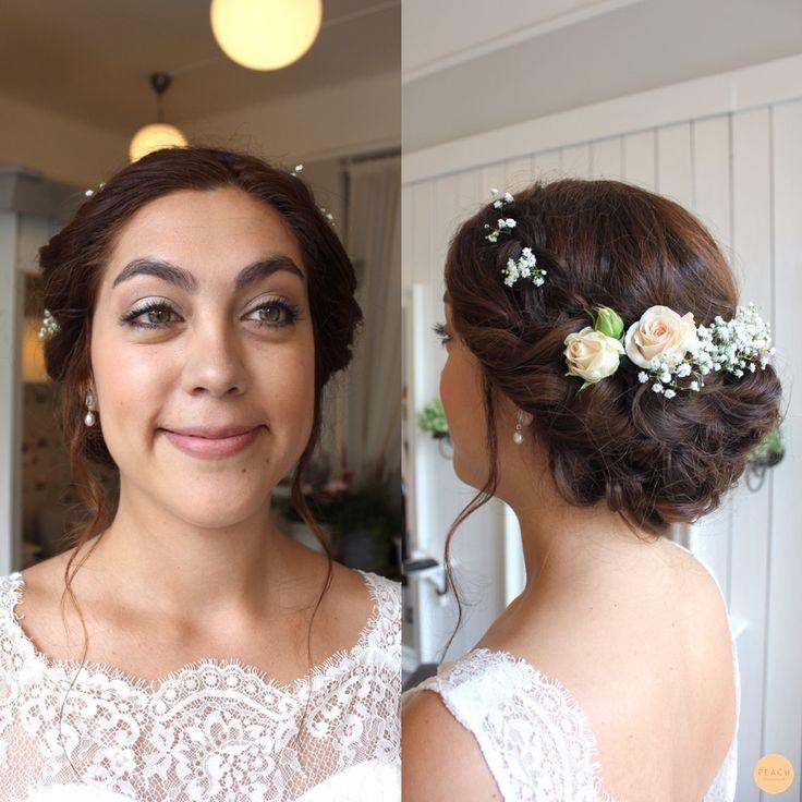 romantic bridal hair updo