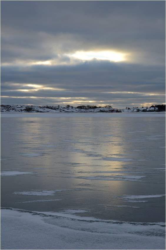 Sunshine on ice. Brändö, Åland. January 26, 2014.