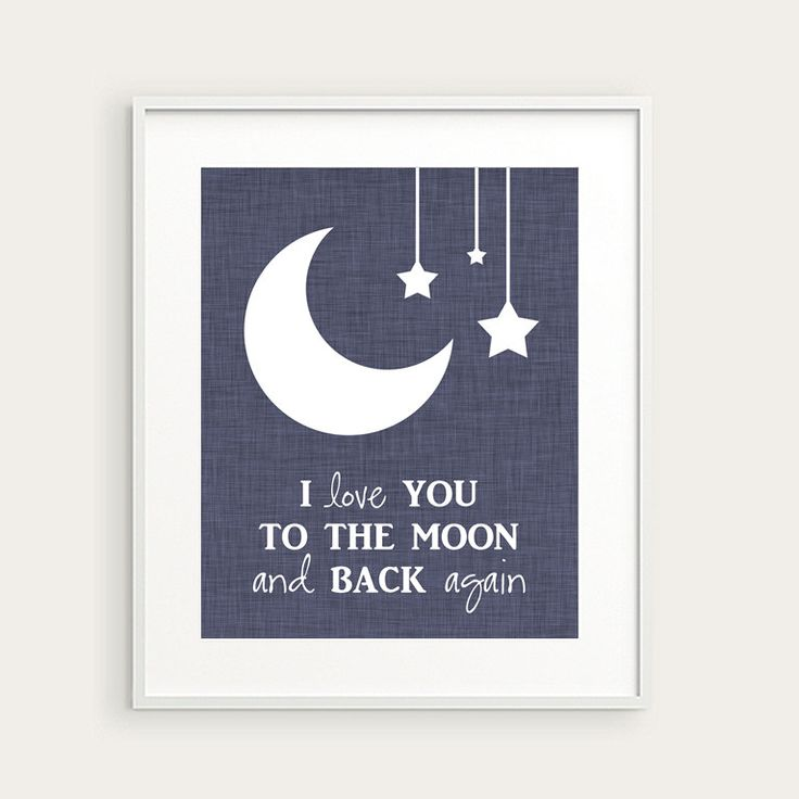 Moon Amp Stars Nursery Art Quot I Love You To The Moon And