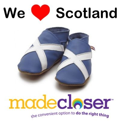 We love these little Scottish baby shoes from Star Child Shoes! #scotland