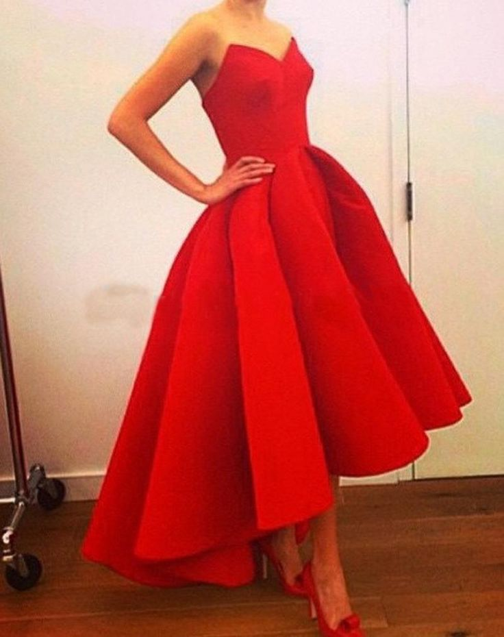 Unique Prom Dress Cute Red Ball Gown Prom Dresses 2015 Real Sample High Low Sweetheart Satin Formal Arabic Evening Gowns Short Front Long Back Plus Size Prom Dress 2011 From Nameilishawedding, $62.83| Dhgate.Com