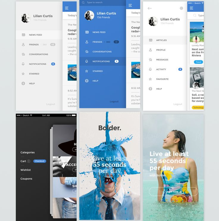 UI & UX Design / Bolder on Behance