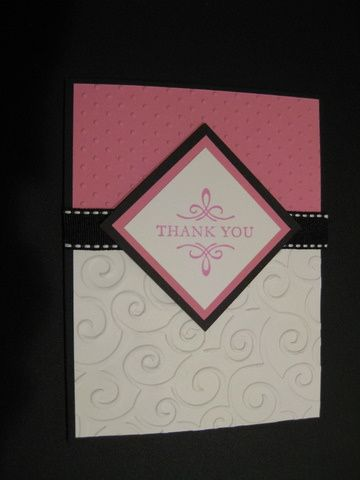 Elegant Thank You by jadoherty - Cards and Paper Crafts at Splitcoaststampers. Emboss.