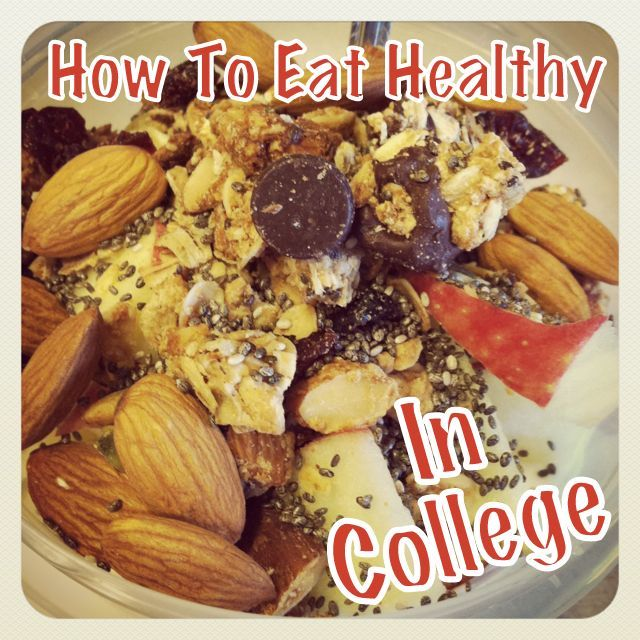 How to Eat Healthy in college!! This is soooo helpful.