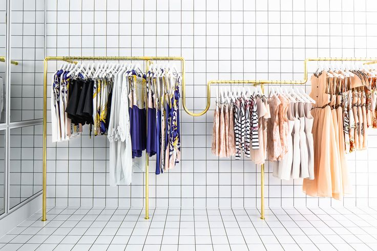 Alice McCall Melbourne Store by Wonder | http://www.yellowtrace.com.au/white-tiles-with-black-grout/