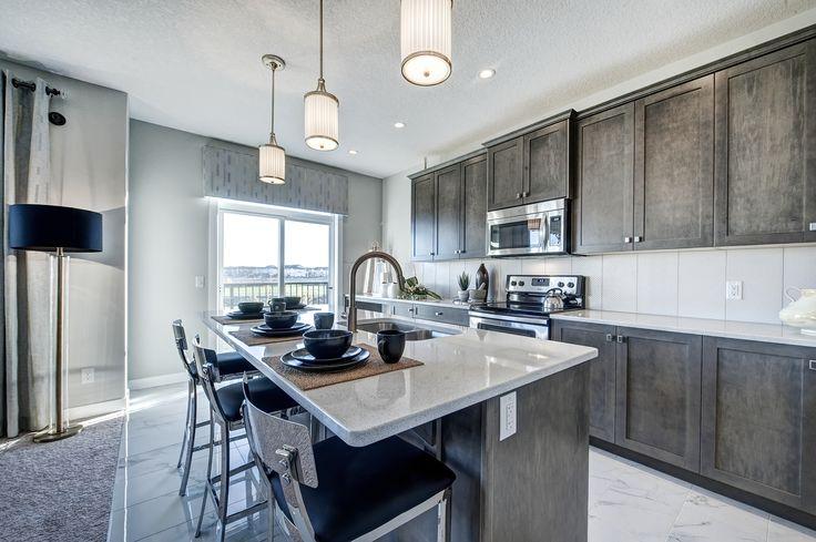 Kitchen design from our Carlton showroom in Saddlestone of Calgary, Alberta.