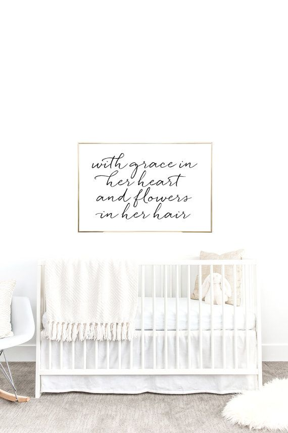 YOU PRINT PRINTABLE Wall Art 24x36 Jpeg With Grace In Her heart and flowers in her hair, Mumford & sons, nursery decor, nursery inspired, nursery inspo, baby room decor, children's decor, after the storm