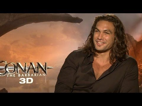 "▶ 'Conan the Barbarian' Jason Momoa - YouTube. If he said, ""Woman come here,"" to me - I think I'd listen."