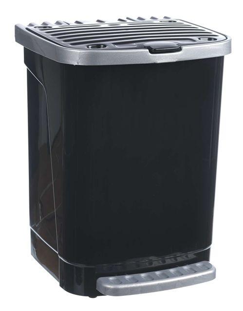 Puedes encontrar nuestro #cubo de basura con pedal con capacidad para 27L. en muchos colores. Descúbrelo en nuestra web. Con aro para la fijación de la bolsa Sujeción de la tapa al fijar el pedal Doble compartimento para el almacenaje de bolsas de basura Fabricado con materias primas de alta calidad  #Toyma #fabricantes #taller #basura #pedal #27 #aro #basura #cube #trash #FelizFinde #hogar #cocina #home #kitchen